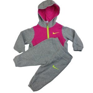 Nike Grey Jogging Suit Toddler Girls